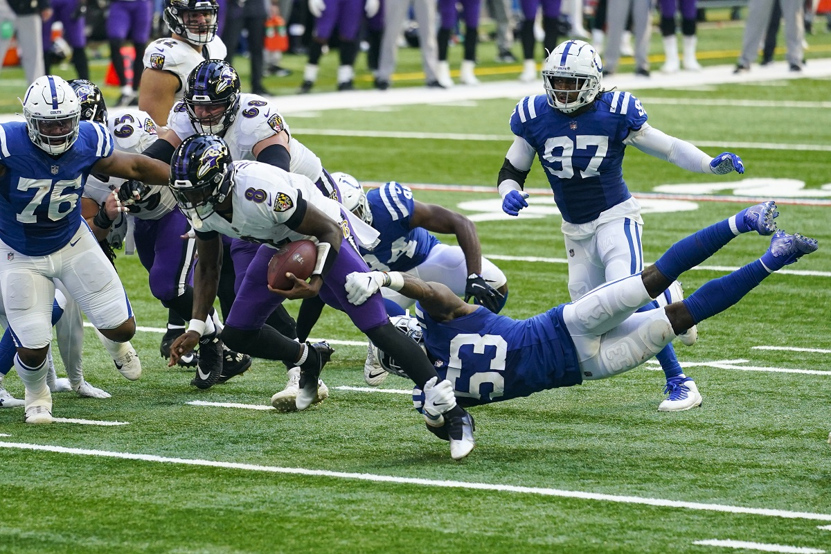 Ravens bezwingen die Colts